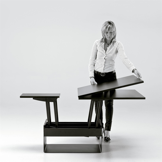 Tavolino tavolo pranzo vela sedit di sedit in vendita online su homidesign - Tavolino salotto trasformabile tavolo pranzo ...