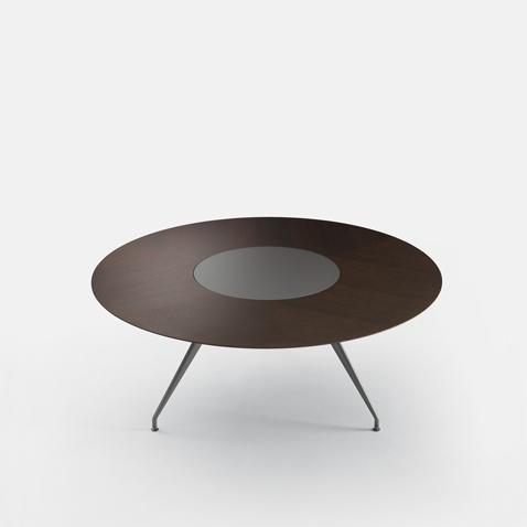 tavolo manta rotondo con piatto girevole mantawood